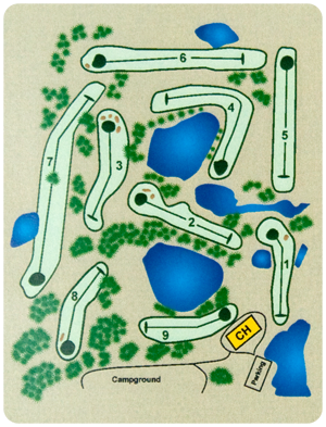 Country 9 Golf Course Map